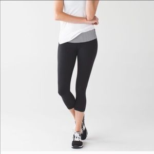 Lululemon Wunder Under Striped Crops